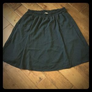 Honey and Lace 3XL Black Skirt line with pockets